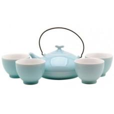 Blue Tea Set: 1 Pot & 4 Cups