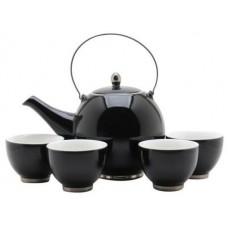 Black Tea Set: 1 Tea Pot & 4 Cups
