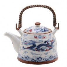 1 Tea Pot - White/Blue Dragon