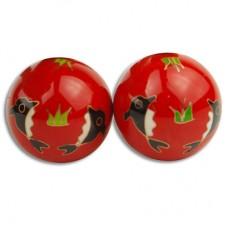 "1.75"" Health ball/Taichi - Assorted 3 Color - Metal"