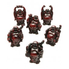 "3.5"" Six-Piece Red Buddha Set"