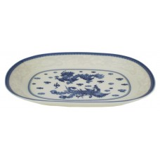 "Blue Dragon II - 12"" Oval Plate"