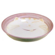"4"" Sauce Dish - Ceramic Purple Kitty Pattern"