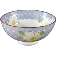 "Flower - 6"" Bowl - Blue"