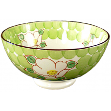 "Flower - 6"" Bowl - Green"