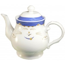 Blue Cat 30 Oz Tea Pot