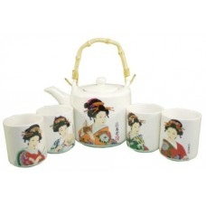 22oz Tea Pot; 4 (4oz) Cups Set