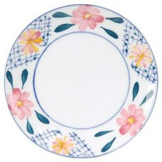 "9"" Plate with Flower Design"