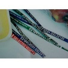 "Vegetable Tie  3/16"" x 4"" (White)"