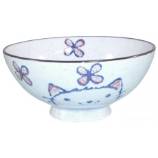 "5"" Japanese Bowl w/Cat Design"