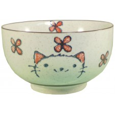 "6"" Japanese Bowl w/Cat design"