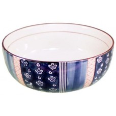"8"" Japanese Soup Bowl - Blue Pattern"