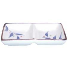 "4.5"" Ceramic Japanese Style Twin Dish"