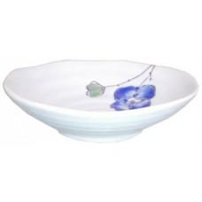 """4.5"""" Round Dish w/Blue Flower Design"""