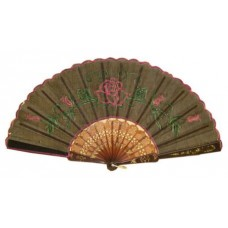 Plastic Hand Fan - Rose (Assorted Colors)