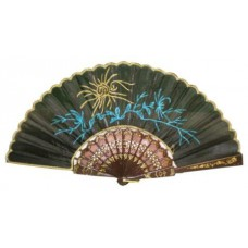 Plastic Hand Fan - Flower (Assorted Colors)
