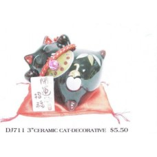 "3"" Ceramic Cat - Decorative"