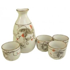 "(4) 1 3/4"" (2oz) Cups & (1) 5 1/2"" (10oz) Sake Server"