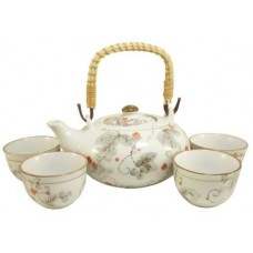 (1) 24oz Tea Pot; (4) 4oz Cups