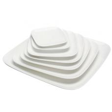 "10.25""Sq White Porcelain Plate"