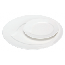 "10.5""D White Porcelain Round Plate"