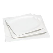 "10"" Sq. White Porcelain Plate"