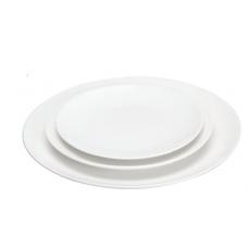 """10.25""""D White Porcelain Plate"""