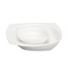 "7""Sq. x 1.75""H White Porcelain Bowl"