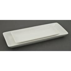 "10.25"" x 4.5"" x 1""H White Rectangular Plate"