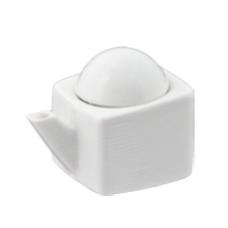 """1.75""""H - 2 fl. oz. White Porcelain Sauce Dispenser"""