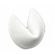 "1.75"" x 1.5"" Fortune Cookie White Chopstick Rest/Spoon Rest"