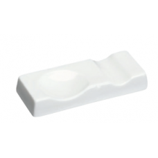 "3.25"" L White Chopstick Rest/Spoon Rest"