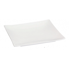 "9.25"" Sq. White Porcelain Square Plate"
