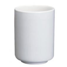 """4""""H - 10 fl. oz. White Porcelain Sauce Dispenser"""