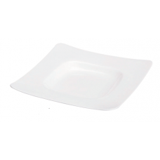 """10.5"""" Sq (6.5"""" Sq) x 1.5""""H White Porcelain Plate"""