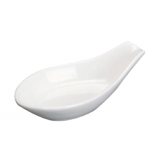 "3.75"" L White Spoon Rest"