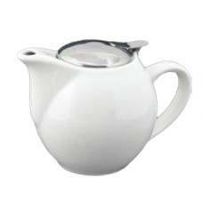 24 fl. oz. White Tea Pot with Stain-Resistant Lid