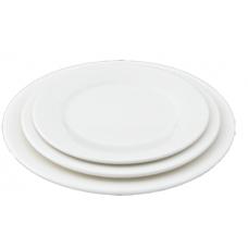 """9""""D White Porcelain Plate"""