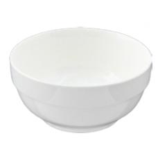 "6""D x 3""H White Porcelain Bowl"