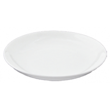 "10""D x 1.5""H White Porcelain Dish"