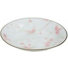 "6"" Deep Round Plate w/Flower Pattern"