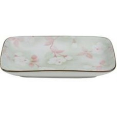 "8"" x 5"" Rectangular Plate w/Flower Pattern"