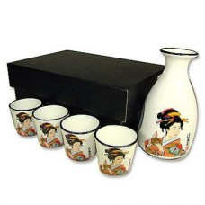 "5"" High Bottle; 1.5"" High Cup - Geisha Cup"
