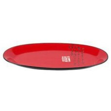"18.5"" Oval Plate - Red and Black"