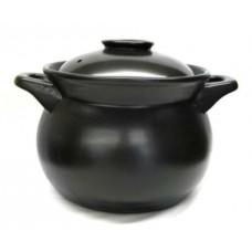 8L Black Clay Pot