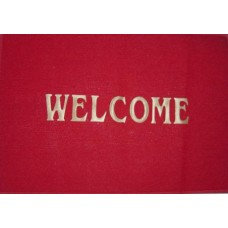 """Welcome"" Plastic Door Mat"