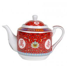 36oz Longevity Tea Pot - Red