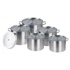 Aluminum Stock Pot w/Steamer Set