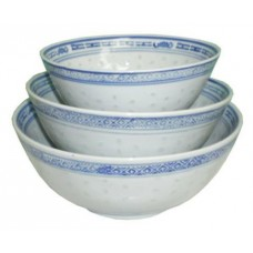 "8"" Bowl - Rice Pattern Set"