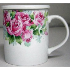 10oz Tea Cup w/Lid - Pink